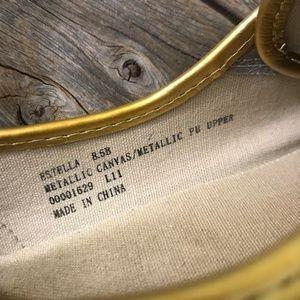 Ralph Lauren Shoes - Ralph Lauren Estella Metallic Canvas Sneaker 8.5